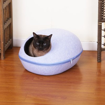 Petpals Pet Bed with Removable Cover Color: Blue