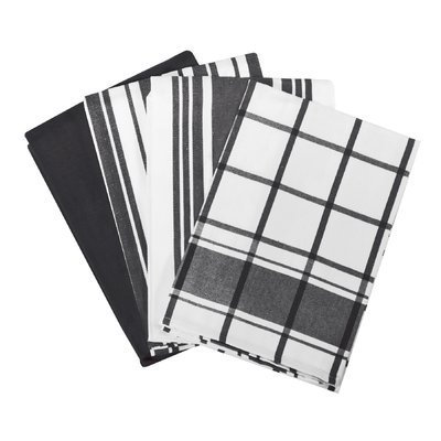 All Clad All-Clad Black Set of 4 Woven Kitchen Towels
