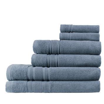 Melange Home Turkish Cotton Ensemble 6 Piece Towel Set Color: Slate Blue