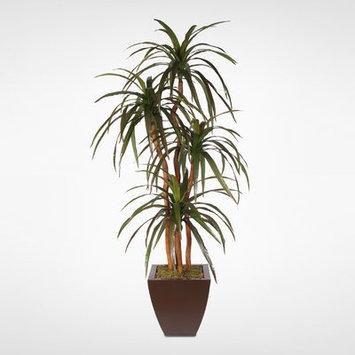 Bloomsbury Market Silk Floor Yucca Tree in Pot