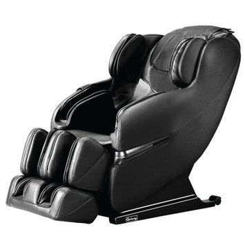 Symple Stuff Faux Leather Massage Chair Upholstery: Black