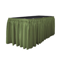 La Linen Table Skirt, Dark Sage