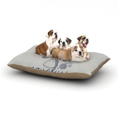 East Urban Home Belinda Gillies 'Aquarius' Dog Pillow with Fleece Cozy Top Size: Small (40