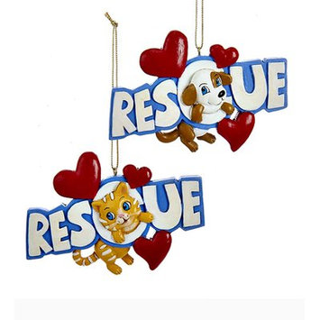 Wind & Weather 2 Piece Rescue Pets Ornament Set