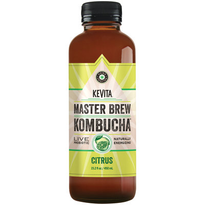 Kevita® Master Brew Kombucha™ Citrus Live Probiotic Drink 15.2 fl. oz. Bottle