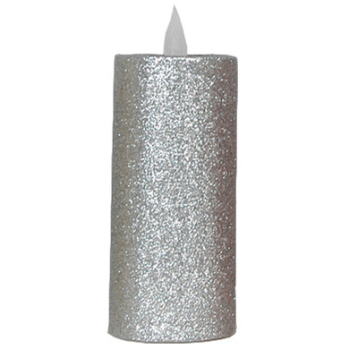 Mercer41 Glitter LED Pillar Flameless Candle Size: 9