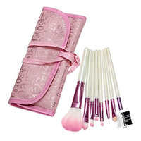 Makeup Brushes 8 Pcs Synthetic Foundation Powder Concealers Eyeshadow Makeup Tools with Cosmetic Bag