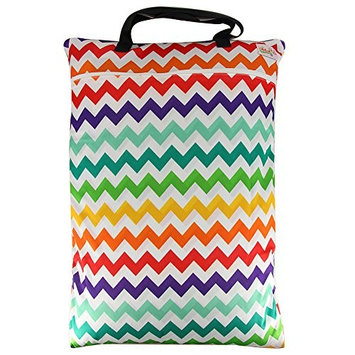 Large Wet Dry Hanging Stroller Pockets Pail Bag for Baby Cloth Diaper Nappy Bag - OHBABYKA