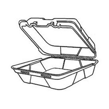 GNPSN240 - Snap-it Foam Hinged Carryout Container, Medium, White, 8-1/4x8x3, 100/bag