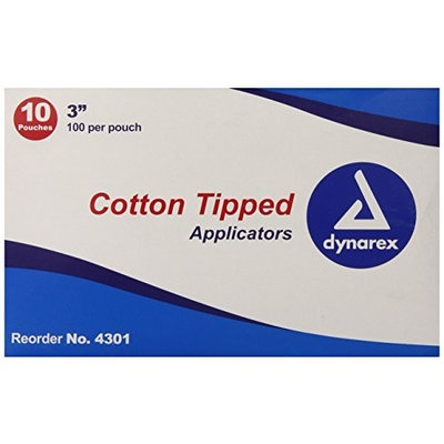 Dynarex Cotton Tipped Wood Applicators Non-sterile 3
