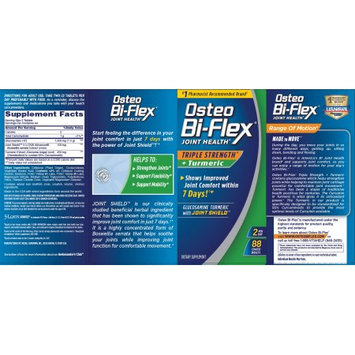 Nature's Bounty Osteo Bi-Flex Triple Strength + Turmeric, 88 Tablets