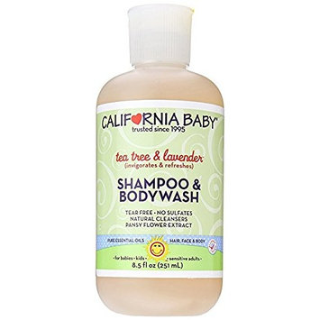 California Baby Shampoo & Body Wash - Tea Tree & Lavender, 8.5 Ounce 2 Pack