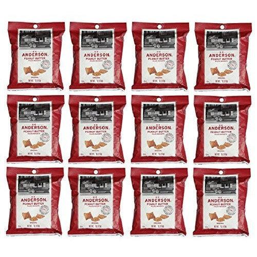 Hk Anderson Peanut Butter Filled Pretzel Nuggets Original: 12 Packs of 5 Oz - Dts