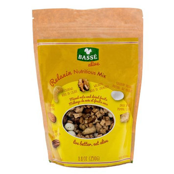 Basse Nuts Basse Alive Relaxin Nutritious Mix (8.8oz.) High Pecan Nutrition, Dried Apple & Great Calories In Yogurt Raisins