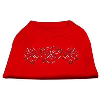 Mirage Pet Products 5279 SMRD Tropical Flower Rhinestone Shirts Red S 10