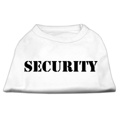 Mirage Pet Products 5148 XXLWT Security Screen Print Shirts White with black text XXL 18