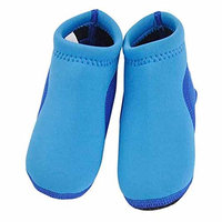 GudeHome Boys Barefoot Swim Shoes Infant Water Shoes Beach Shoes Baby Neoprene Padder Soft Shoes, Blue 15cm [Blue, 15cm/18-24Months]