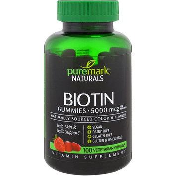 PureMark Naturals, Biotin, 5000 mcg , 100 Veggie Gummies