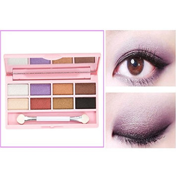 RNTOP 8 Colors Pro Eyeshadow Shimmer Mate Palette Cosmetic Brush Mirror Makeup Set
