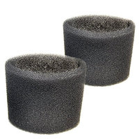 HQRP 2 Foam Filter Sleeves for Shop-Vac 2010, 2010A, 2015, 2015A, 2E150, 2E200, 3150, 3200, 3225, 3332, 3332.5A, 3332.5B, 3333.5, 3333.OH, 3334 Wet Dry Vacuums + Coaster (Pack of 2)