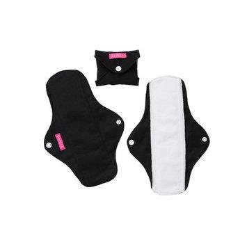 Dahlia Cloth Reusable Feminine Menstrual Pads, Sanitary Napkin, Unscented, Washable (Medium, Midnight)