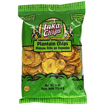 Inka Crops Original Plantain Chips 4 oz (Pack of 12)