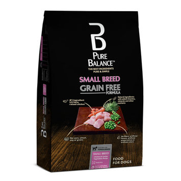 Pure Balance Grain Free Small Breed Chicken & Garden Vegetables Dry Dog Food, 4 lb
