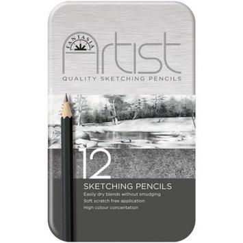 Pro-art Fantasia Premium Sketching Pencil Set, 12pc
