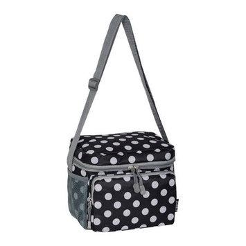 Everest Cooler/Lunch Bag Black/White Dot - Everest Travel Coolers