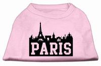 Mirage Pet Products 5171 LGLPK Paris Skyline Screen Print Shirt Light Pink Lg 14