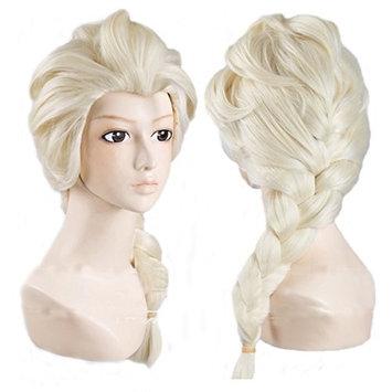 Elink Earth™ Anime Cosplay Costume Wig for Disney Movies Frozen Snow Queen Elsa (Light Blonde)