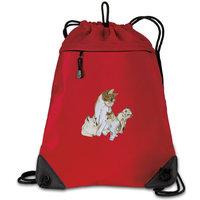 Cat Cinch Pack Cute Cats Drawstring Backpack - Unique Mesh & Microfiber