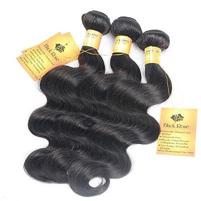 Black Rose Hair Peruvian Body Wave 4pcs Lot 100% Human Hair Extension Unprocessed Peruvian Virgin Hair Body Wave Total 200g/7.05oz 50g/bundles, Pack of 4 (22 22 24 24 Inch)