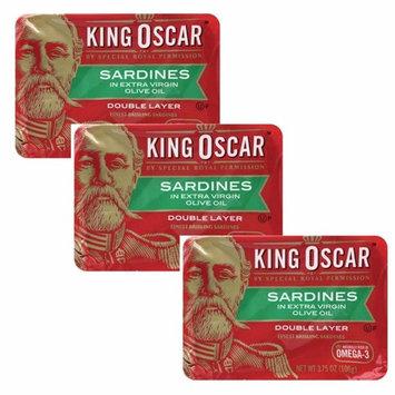 King Oscar Sardines Extra Virgin Olive Oil, 3.75-Ounce Cans (3Pack)