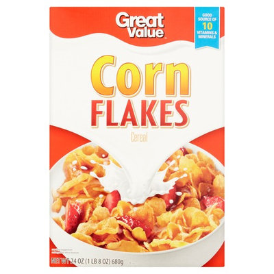 Great Value Cereal, Corn Flakes, 24 Oz (Pack of 2)