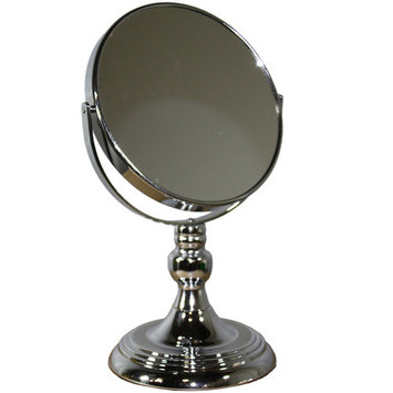 ORE International Silver Chrome Round 12.25-inch Mirror with Magnification