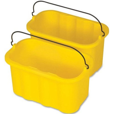 Rubbermaid Commercial Products RCP9T8200YW Sanitizing Caddy- 10 Quart- 14inchx7-. 50inchx8inch- Yellow