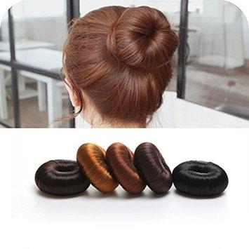 LtrottedJ Hot Women Synthetic Fiber Hair Bun ,Donuts Ring Blonde Hair Extension Wig