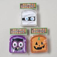 Dollar Item Direct Sandwich Container Halloween Mummy/Pumpkin/Owl Face Plastic, Case of 36