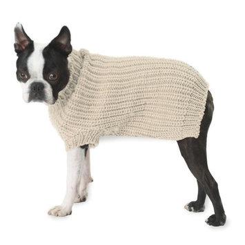 Petrageous Designs Morgan's Fisherman Cream Dog Sweater - Small