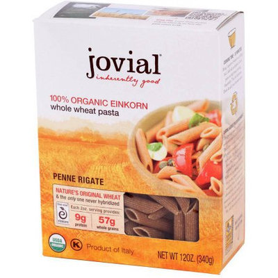 Jovial Einkorn Flour, Whole Grain Penne Rigate, 12 Ounce (Pack of 6)