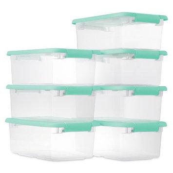 Sterilite 6-Quart Latching Boxes 7-Pack (Mint)