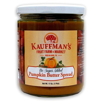 Kauffman's Homemade Pumpkin Butter, No Sugar Added, 17 Oz. Jar