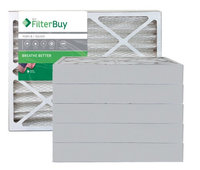AFB Silver MERV 8 18x25x4 Pleated AC Furnace Air Filter. Filters. 100% produced in the USA. (Pack of 6)