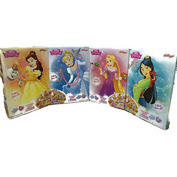 Variety Pack - Kelloggs Disney Princess Strawberry Marshmallows Cereal (8.8 oz) - Belle, Milan, Cinderella, Rapunzel