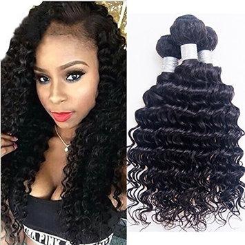 BINF Wholesale 4 Bundles Brazilian Virgin Hair Deep Wave Hair Extensions Unprocessed Human Hair Deep Curly Natural Color 95-100g/pc
