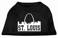 Mirage Pet Products 5174 XLBK St Louis Skyline Screen Print Shirt Black XL 16
