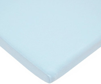 American Baby Company Value Jersey 100 Percent Cotton Knit Bassinet Sheet - Blue - 2 Pack