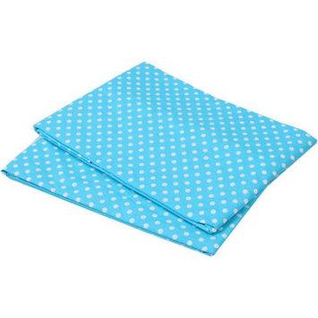 Bacati MixNMatch Turquoise Pin Dots Crib Fitted Sheet, 2pk