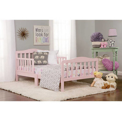 Dream On Me Classic Toddler Bed in Blush Pink